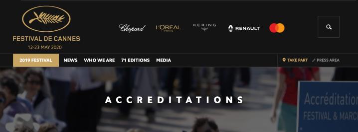 艾影展 · 2020坎城影展影迷證(CINEPHILES ACCREDITATION)線上申請攻略